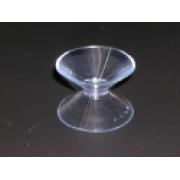 Zuignap dubbel 35+35 mm transparant 100st Td13030060